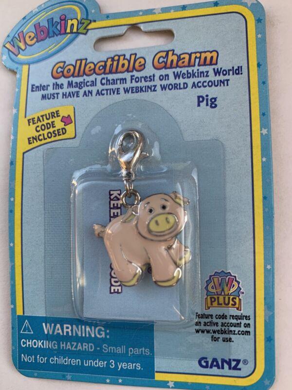 Webkinz Collectible Charm - PIG - New w/Unused Code