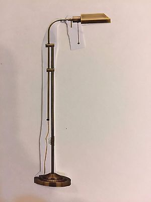 Antique Bronze Pharmacy Floor Lamp With Adjustable Pole Quality All Metal NEW