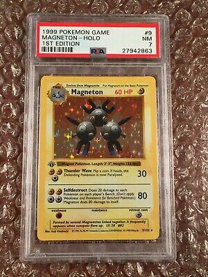 PSA 7 Magneton 1st Edition Holo Rare Shadowless Base Set 1999 Pokemon Card #9