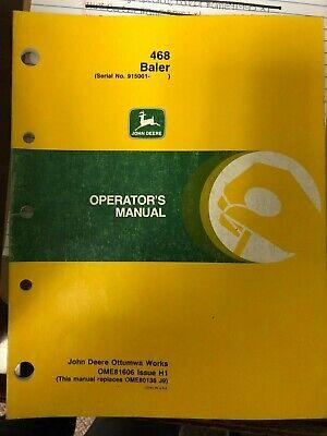 John Deere Manual Used 468 Baler Ome81606