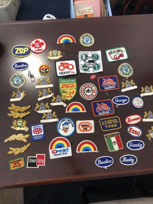 Huge Lot Of Vintage Patches Huffy , Mexico And More