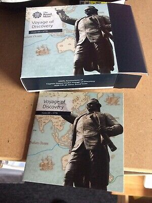 £2 Pound  silver Proof  2020 Captain Cook 250 Anniversary Voyage Of Discovery