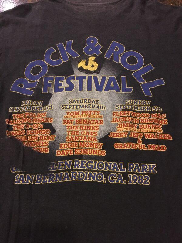 The US Festival 1982 San Bernardino California Original Vintage Concert T-Shirt