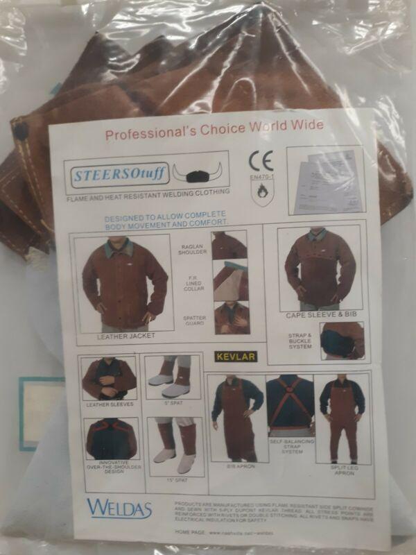 "WELDAS Welding Spats, Gaiters, Safety Footwear Protection 44-7106 (pair) 6"" SPAT"