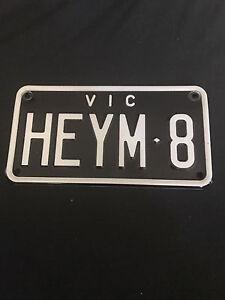 Personalised Number plates Motorcycle/motorbike black Clayton Monash Area Preview