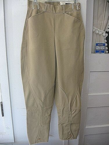"VINTAGE YOUTH CAPRIOLE TAN EQUESTRIAN RIDING JODHPURS BREECHES - 24""W"