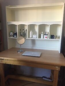 Desk/Table and desk/vanity/book shelf