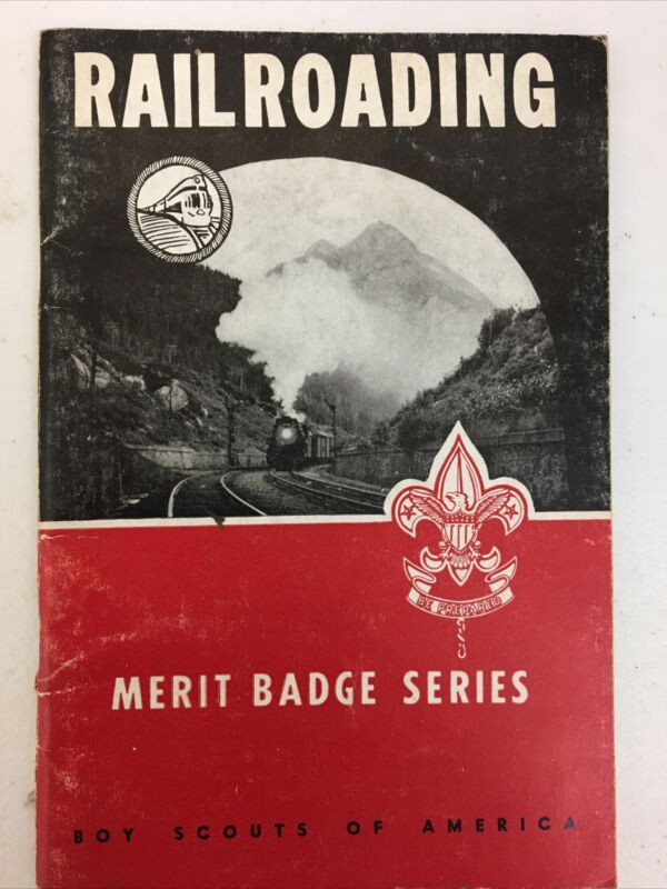 Boy Scouts of America BSA Railroading Merit Badge Series Book 1954