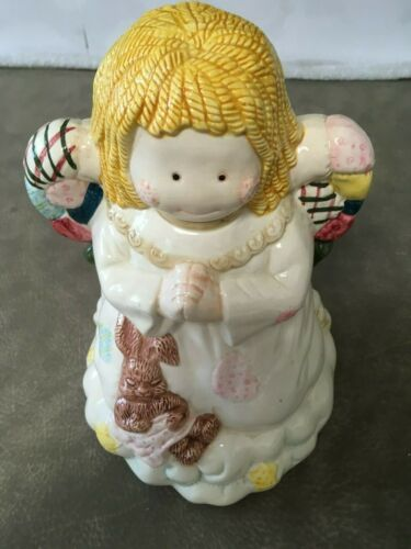 Ceramic Praying Angel Cookie Jar Cosmos Christmas Around the World 1995