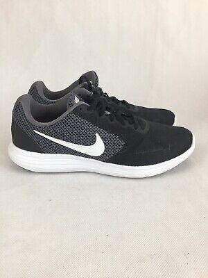Womens 12 2E Wide Nike Revolution 3 Dk Grey/black/white Running Shoe Sneaker