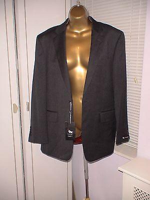 Herringbone Jacket Charcoal (Chester Barrie 40R 100% Wool Herringbone Charcoal Jacket RRP £225)