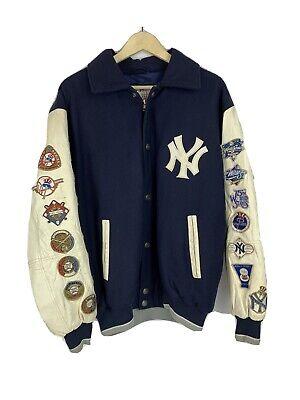 New York Yankees MLB 26-Time World Series Champions Jacket Sz Med/L carl banks