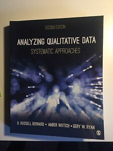 analyzing qualitative data systematic approaches