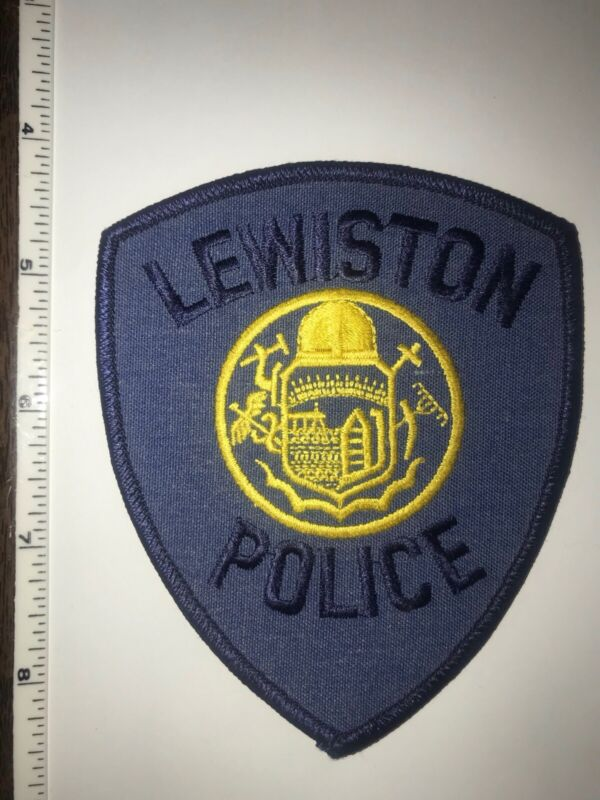Lewiston Maine Police Shoulder Patch New