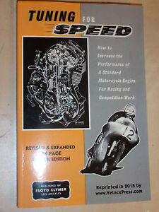 Tuning for Speed MOTORCYCLE RACE & COMPETITION PERFORMNCE MODS MANUAL P.E IRVING