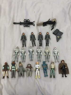 Vintage Star Wars Figures + Mini Rig Parts 1980s 80s Kenner Palitoy