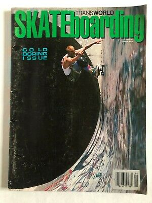 October 1987 Transworld Skateboarding Magazine Hawk Caballero Hosoi Kasai Gator