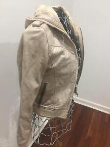 Cream leather jacket Scarborough Stirling Area Preview