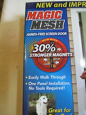 NEW Magic Mesh Hands-Free Screen Net Magnetic Anti Mosquito Bug Door Curtain