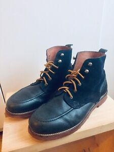MENS SIZE 10.5 LEATHER SUEDE POINTER BOOTS VINTAGE MOC TOE STYLE