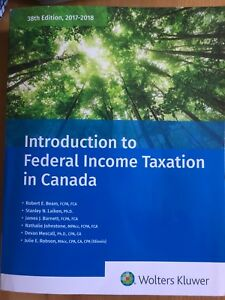 Introduction to Federal Income Taxation in Canada,l
