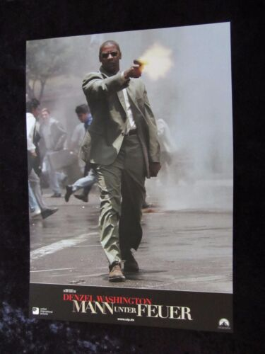 Man On Fire lobby cards/stills - Denzel Washington, Dakota Fanning