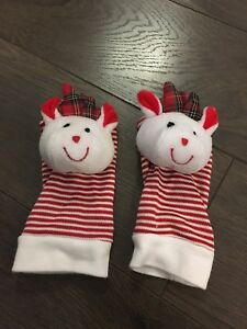 Baby's Christmas socks with rattle