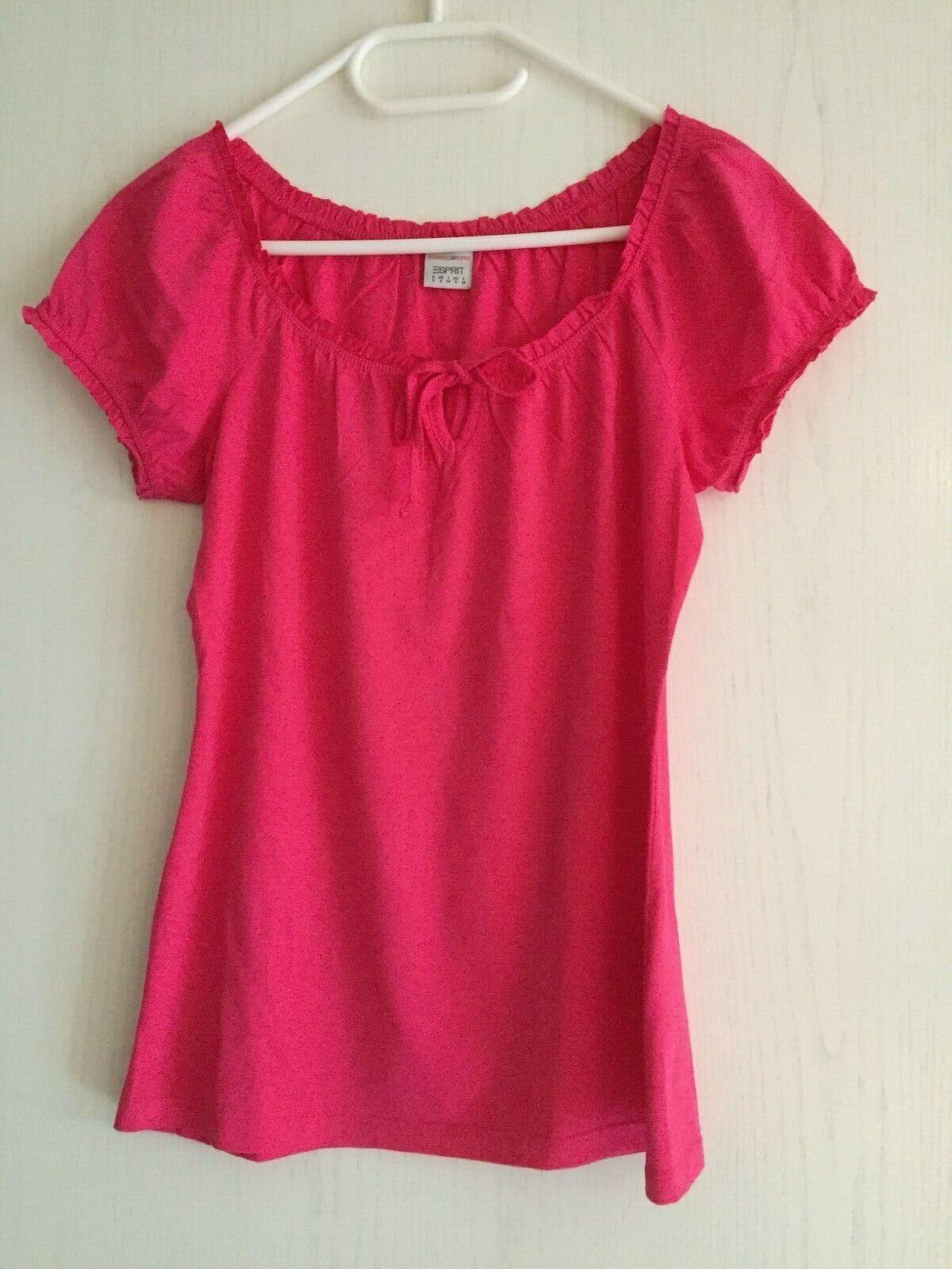 Esprit,  Damen Shirt, Bluse, Größe: S, Kurzarm, Pink - neuwertig