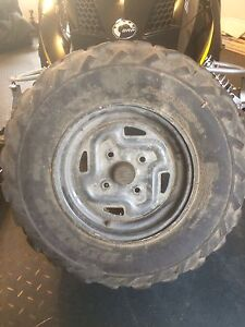 ATV DUNLOP TIRES ON RIMS