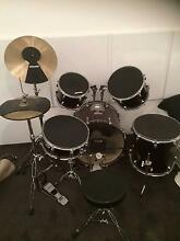 Billy Hyde Drum kit with Practice pads (Beginner / Red) Uralla Uralla Area Preview