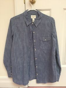 Womens chambray button up