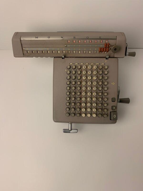 Vintage Antique Monroe Adding Machine Model : LN 160X, Works Good.( Description)