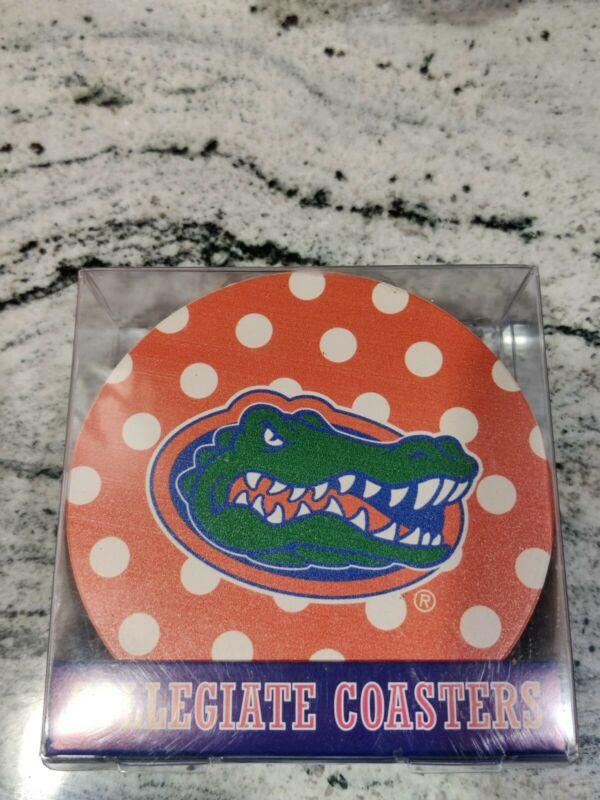 Florida Gators Collegiate Coasters Set Of 4 Stoneware Ncaa Drink Absorbent Uf