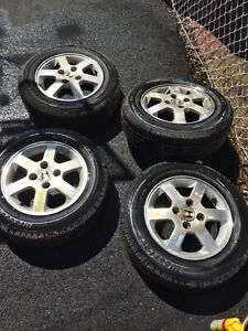 Brand new summer tires 195/65R15 with mags 114.3
