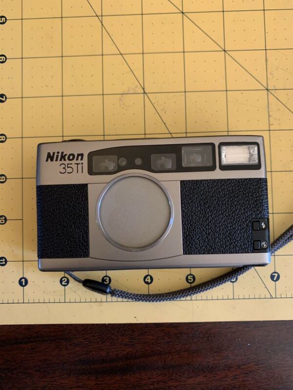 Nikon 35ti- Point And Shoot Film Camera- For Parts Or Repair.