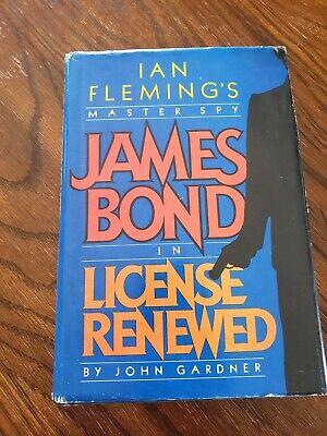 John Gardner License Renewed James Bond Hardback Book Club Ed. 1981 Dust Jacket