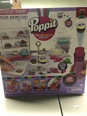 KIDS Poppit Pop and Display Mini Cupcake Bakery Set Clay Craft Activity (Kids Mini Cupcake Kit)