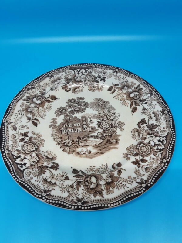 "Royal Staffordshire ""Tonquin""  In Brown.  8"" Salad Plate."