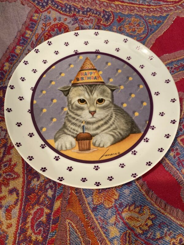 Birthday Cat Plate From Herrero Collection