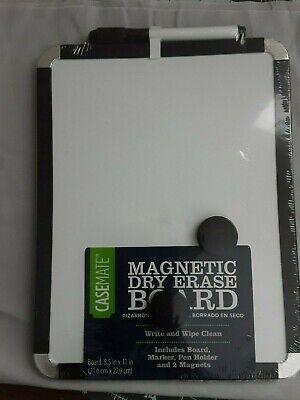 Brand New Casemate 8.5 X 11 Magnetic Dry Erase White Board Black