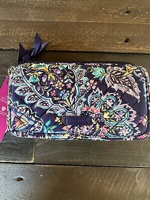 NWT , Vera Bradley RFID All in One Crossbody In French Paisley