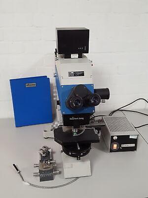 Reichert-jung Polyvar Microscope Lamp Objectives Plan Apo Oel Iris 100x132