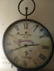 GIANT 24 diameter 33 Tall Pocket Watch Winchester Arms Rifle Wall Clock. WOW!!