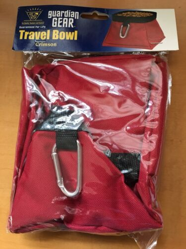 Guardian Gear Portable Travel Pet Food or Water Bowl - Red-NEW!