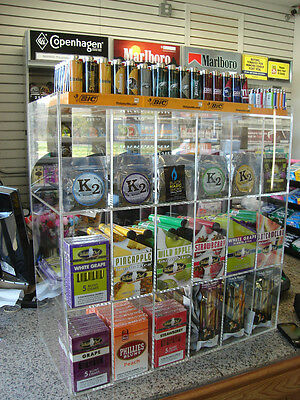 Cigar Display show Case retail C-store Rack Candy Blunt Convenience humidor