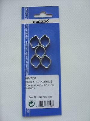 Metabo 5 Schlauchklemme von Ø 11 - 13mm RD 11-13 0901054983 Schlauch Klemme