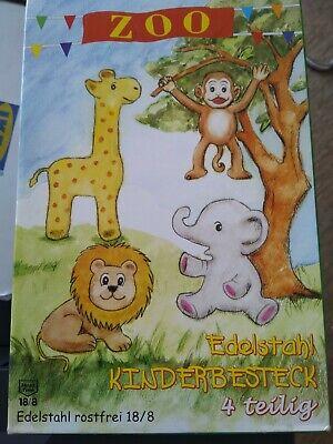 Kinderbesteck Set Edelstahl Zoo Kinderbesteckset Tiere - Besteck für Kinder neu