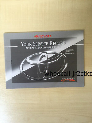 TOYOTA SERVICE BOOK D4D PETROL AND DIESEL ALL MODELS AURIS, AVENSIS, COROLLA IQ