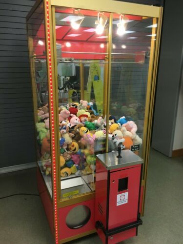 """Smart Industries Classic Crane """"Claw"""" machine loaded with prizes"""