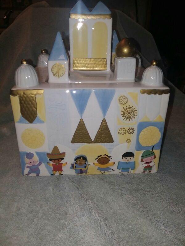 Disney It's A Small World Cookie Jar Ceramic